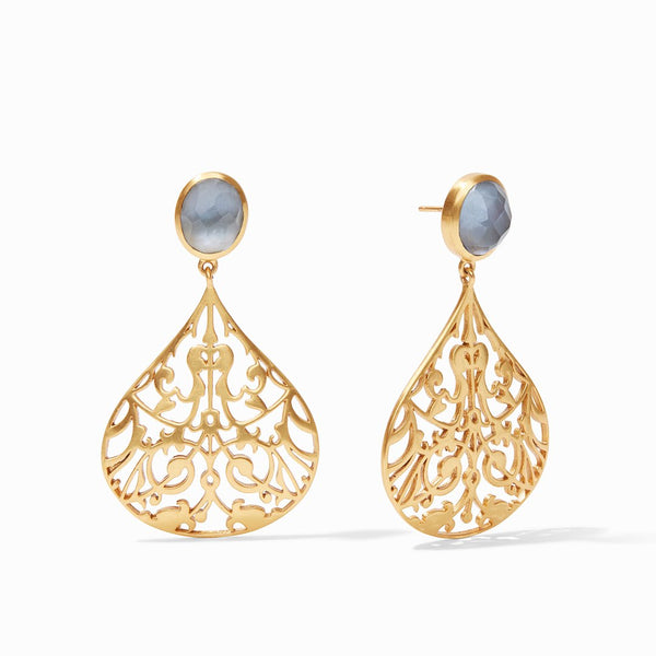Julie Vos Chantilly Earrings in Iridescent Slate Blue