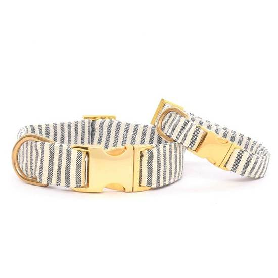 The Foggy Dog Charcoal Stripe Dog Collar