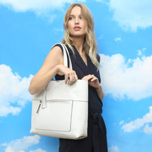 Load image into Gallery viewer, Loxwood Charlie Tote in White