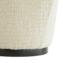 Load image into Gallery viewer, Almond Chenille Ottoman