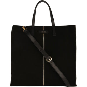 Loxwood Cherche Midi Bag in Black Suede