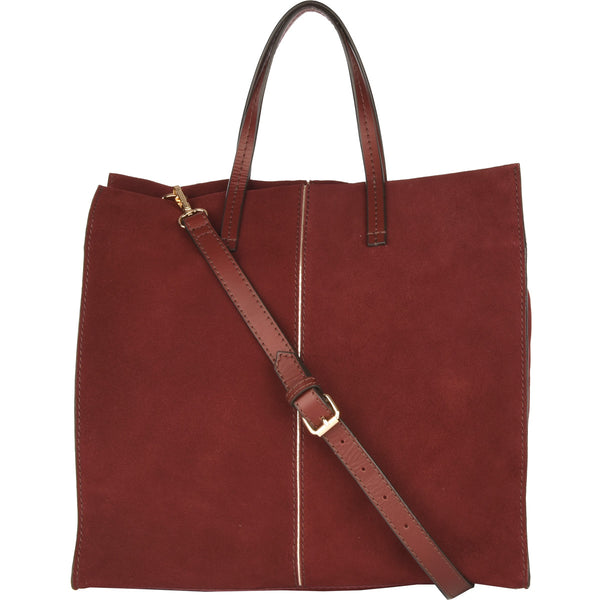 Loxwood Cherche Midi Bag in Cherry Suede