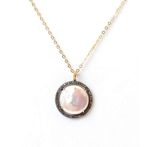 Cindy Ensor Halo Pearl Necklace