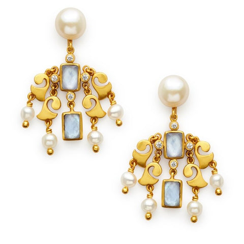 Julie Vos Clara Chandelier Earrings