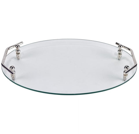 Classic Oval Glass Serving Tray