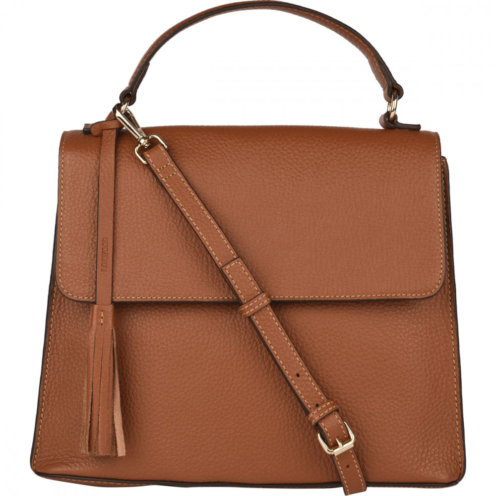 Loxwood Leather Cleo Crossbody Handbag in Honey