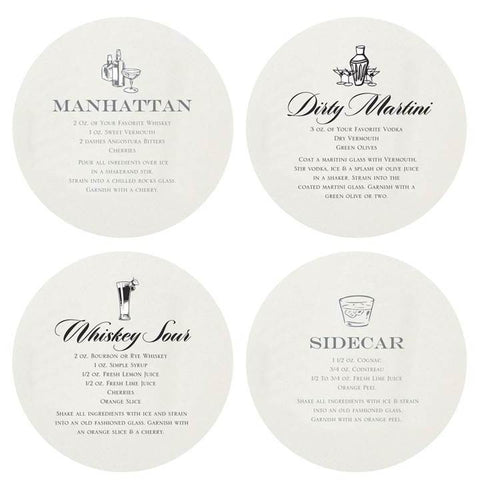 Haute Papier Martini Coaster Box Set