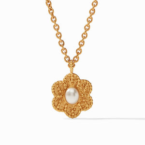 Julie Vos Colette Demi Pendant Necklace in Pearl