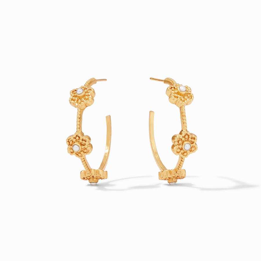 Julie Vos Colette Pearl Hoop Earrings