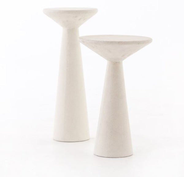 Parchment Concrete Drink Table Set