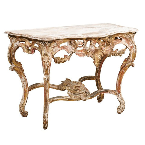 19th Century Carved Wooden Console