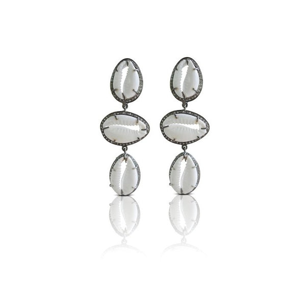 S. Carter Designs Cowrie Drop Earrings