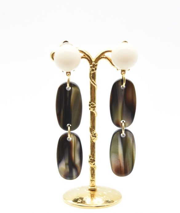 Francine Bramli Double Oval Earrings