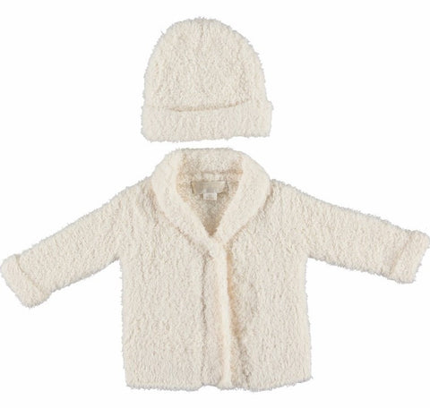 Barefoot Dreams Cardigan and Hat Set