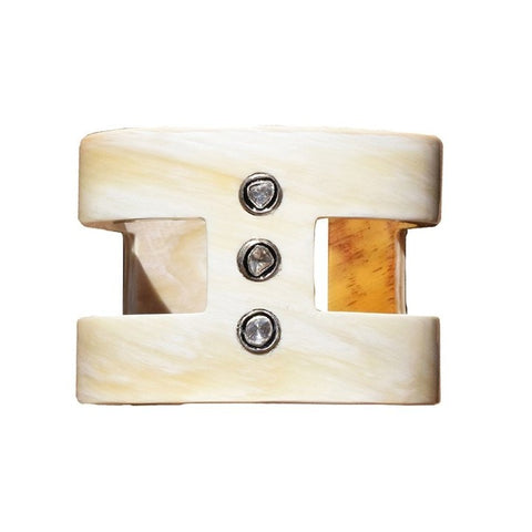 S. Carter Designs Cream Horn H Cuff