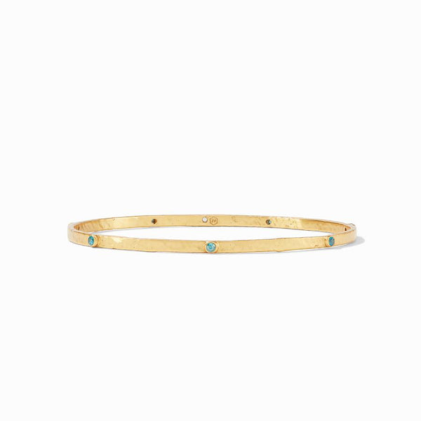 Julie Vos Crescent Bangle in Pacific Blue CZ