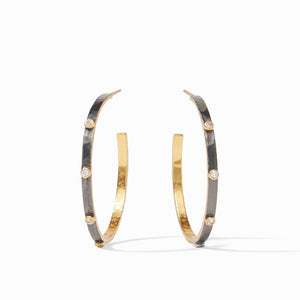 Julie Vos Crescent Mixed Metal Hoop Earrings