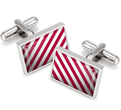 M-Clip Crimson & White Cufflinks