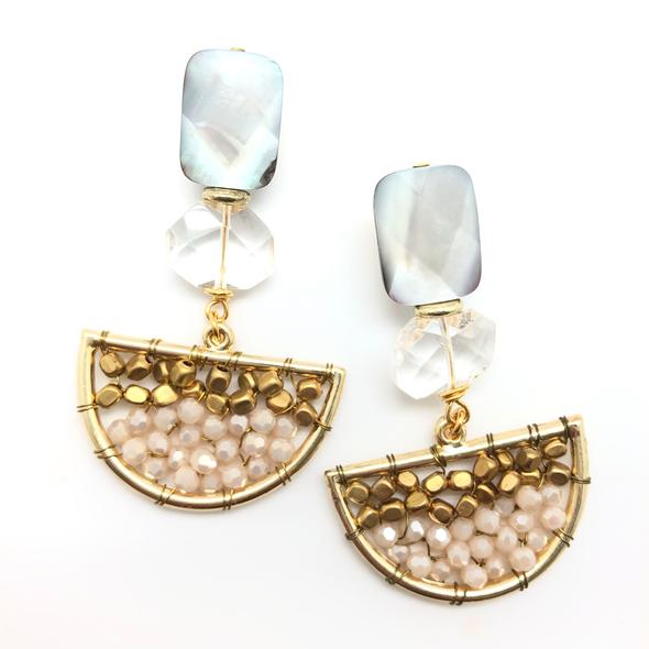 Shiver and Duke Crystal Cluster Earrings