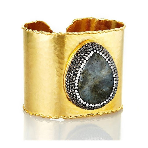 Elyssa Bass Designs Cuff with Labradorite and Crystals