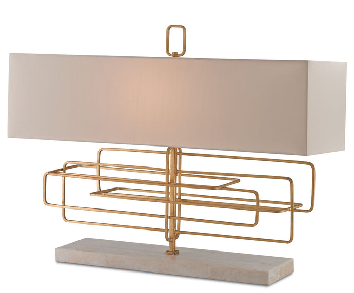 Currey and Co. Metro Rectangle Table Lamp