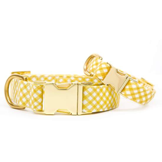 The Foggy Dog Daffodil Gingham Dog Collar