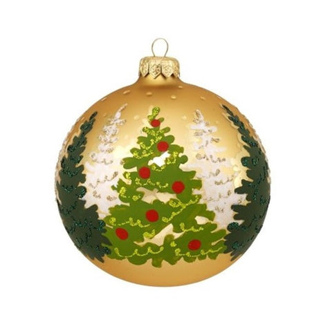 Decoupage Forest Ornament