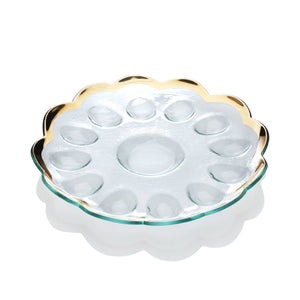 Annieglass Deviled Egg Platter