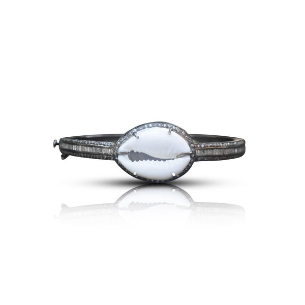 Diamond Cowrie Shell Bracelet