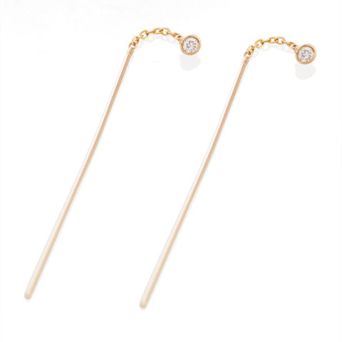 Vale Jewelry Diamond and Stick Earrings