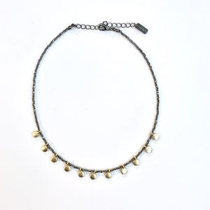 Erin Gray Design Disco Choker on Gunmetal