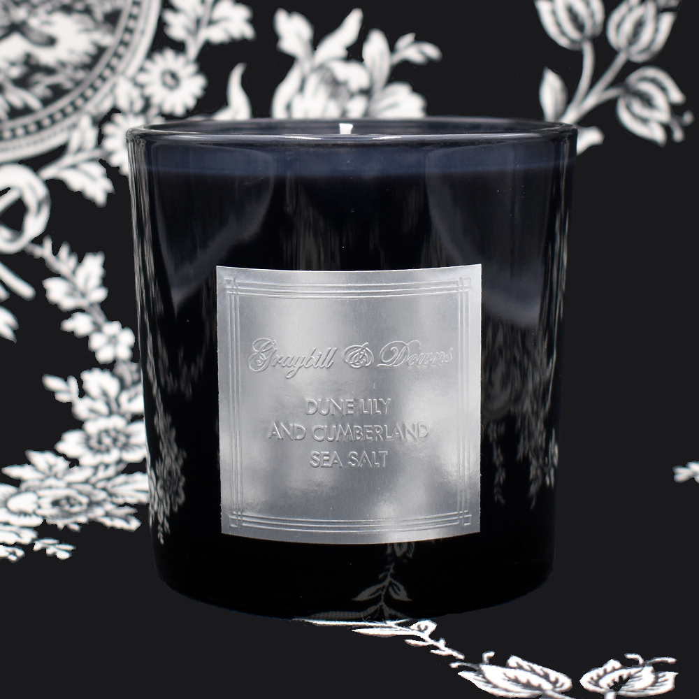 Dune Lily and Cumberland Sea Salt Black Candle