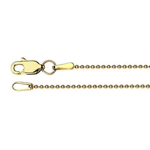 "16"" 14K Ball Chain Necklace"