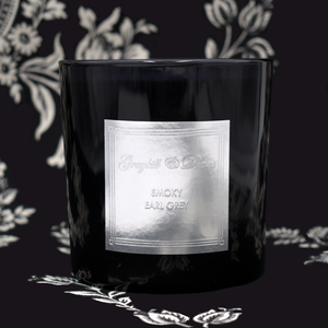 Smoky Earl Grey Black Candle