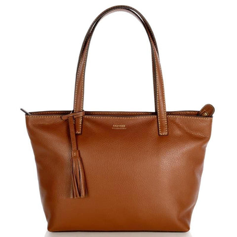 Loxwood Zippered Eden Bag in Brandy