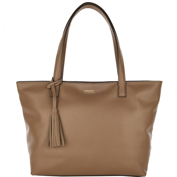 Loxwood Zippered Eden Bag in Taupe