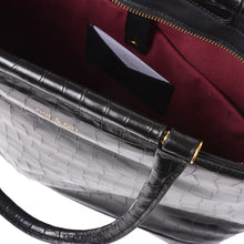 Load image into Gallery viewer, Edwige Bag in Black Croc