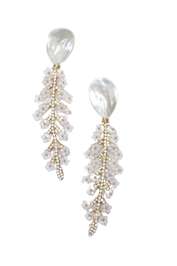 Elisa Earrings in White