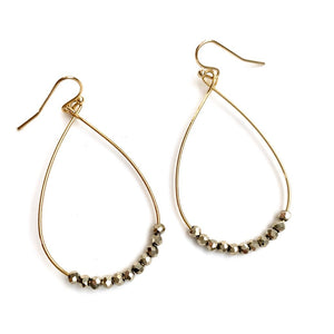 Erin Gray Design Ella Earrings in Pyrite