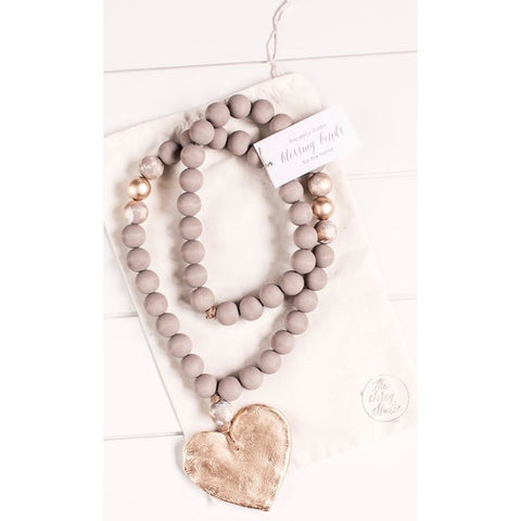 The Sercy Studio Elle Cross/Heart Blessing Beads