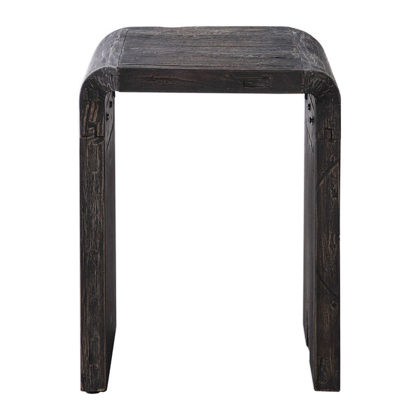 Reclaimed Elm Wood Side Table