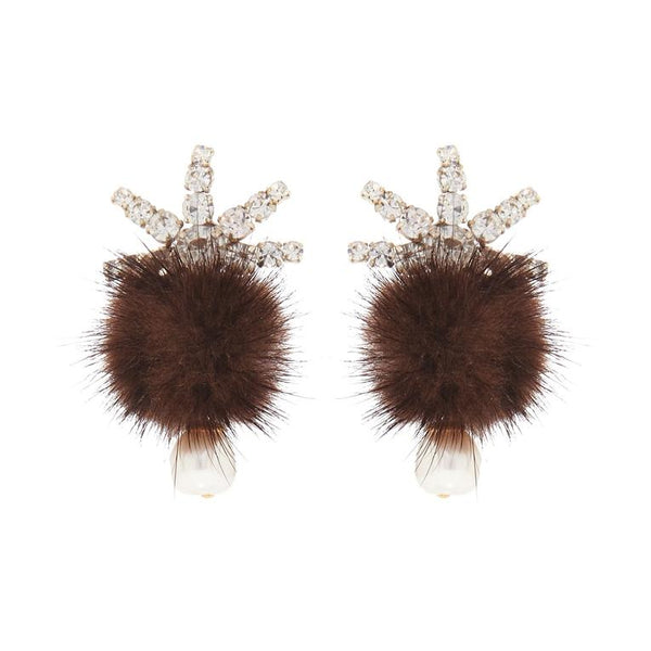 Mignonne Gavigan Fields Pom Pom Earrings
