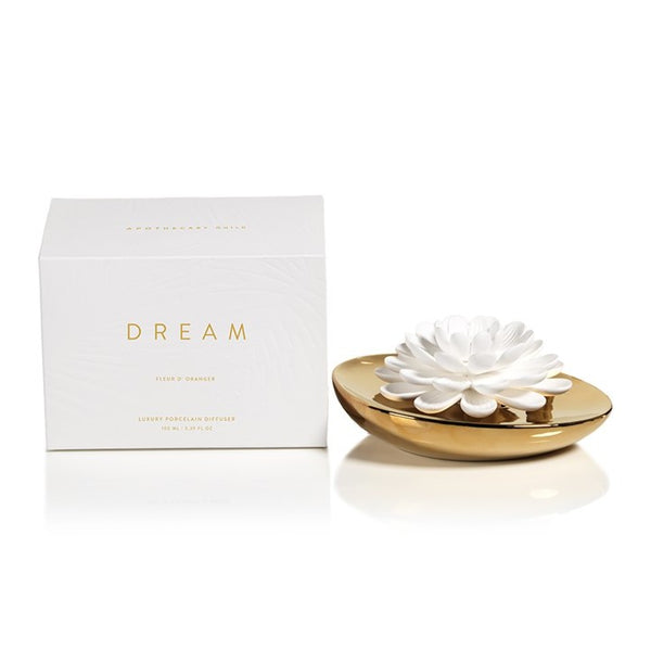 Dream Porcelain Flower Diffuser in Fleur D'Oranger