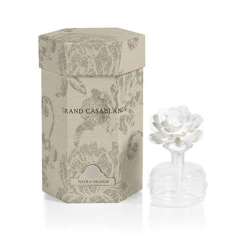 Mini Grand Casablanca Porcelain Diffuser in Fleur D'Oranger