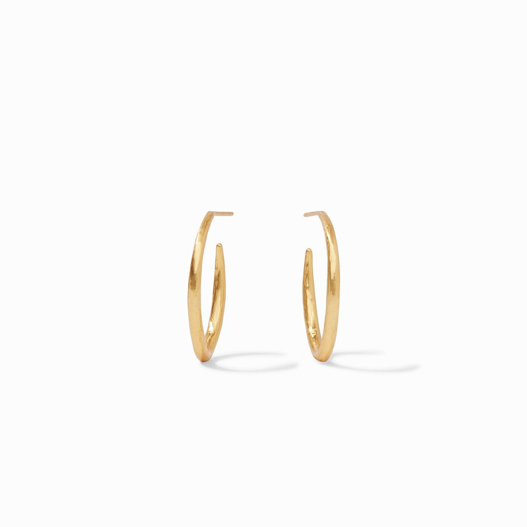 Julie Vos Fleur-de-Lis Gold Hoop Earrings