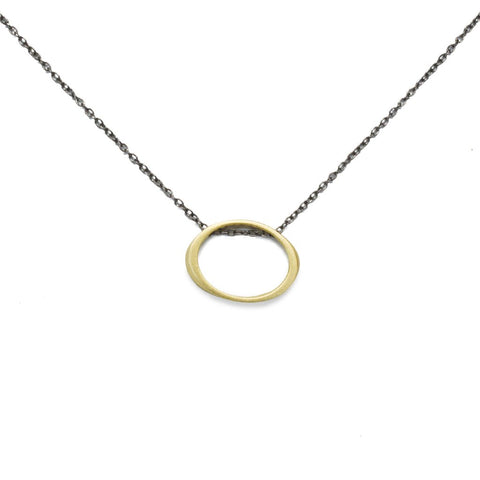 Marion Cage Floating Torque Pendant Necklace