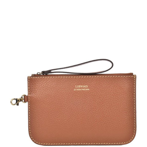 Loxwood Zip Clutch in Brandy