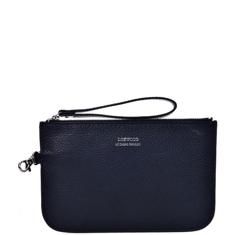Loxwood Zip Clutch in Denim