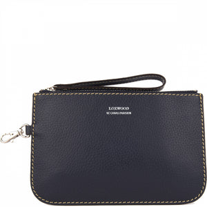 Loxwood Zip Clutch in Navy