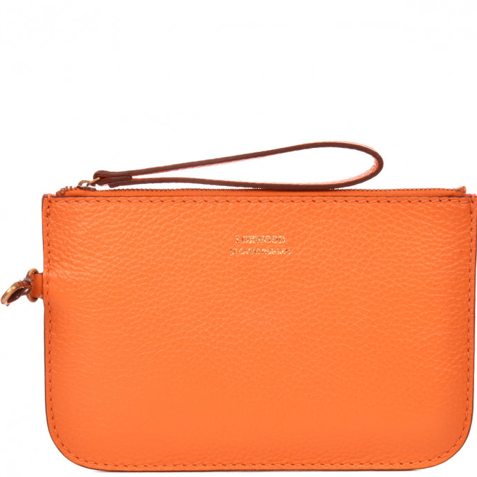 Loxwood Zip Clutch in Papaye